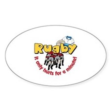 Rugby It only hurts for a minute! Decal