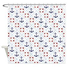 Nautical, life savers+anchors Shower Curtain