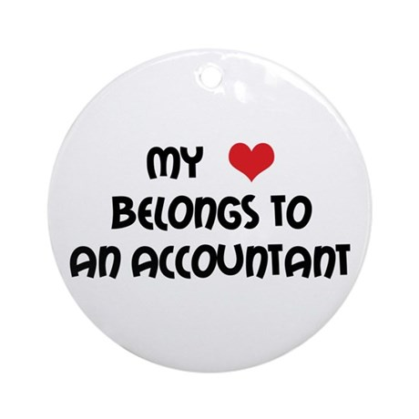 Heart Accountant Ornament (Round)