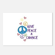 GIVE PEACE A CHANCE Postcards (Package of 8)