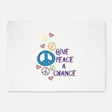 GIVE PEACE A CHANCE 5'x7'Area Rug