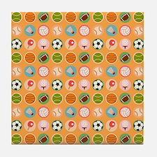 Sports Equipment Tile Coaster