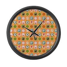 Sports Equipment Large Wall Clock
