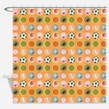 Sports Equipment Shower Curtain