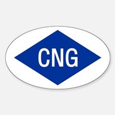 CNG Oval Decal