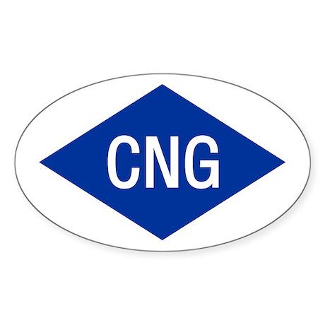 CNG Oval Sticker