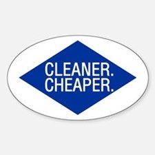 Cleaner / Cheaper Oval Decal