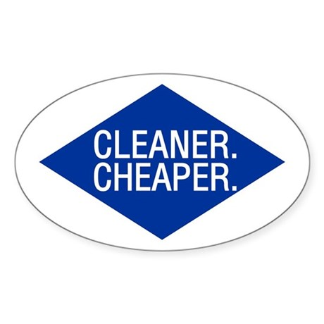 Cleaner / Cheaper Oval Sticker