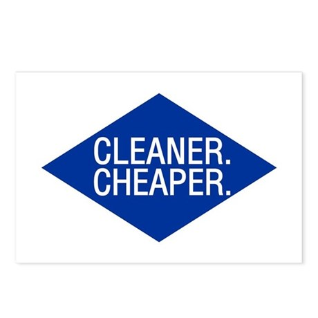 Cleaner / Cheaper Postcards (Package of 8)