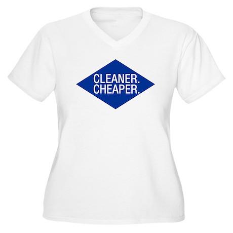 Cleaner / Cheaper Women's Plus Size V-Neck T-Shirt