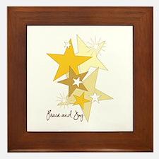 Peace and Joy Stars Framed Tile