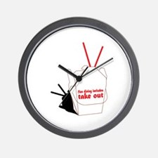 Fine Dining IncludeTake Out Wall Clock