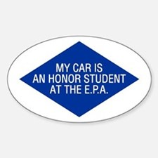 EPA Honor Student Oval Decal