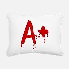 Blood Type A+ Positive Rectangular Canvas Pillow
