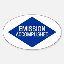Emission Accomplished Oval Decal