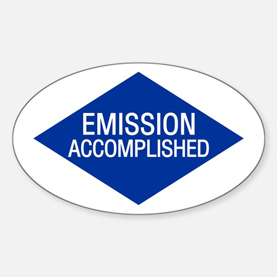 Emission Accomplished Oval Decal