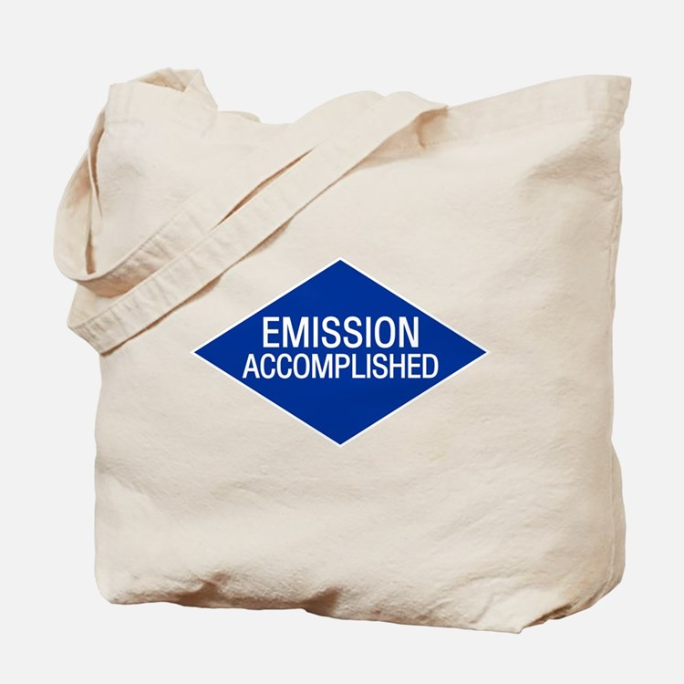 Emission Accomplished Tote Bag