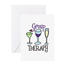 Group Therapy Greeting Cards