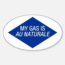 Au Naturale Gas Oval Decal