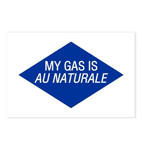 Au Naturale Gas Postcards (Package of 8)