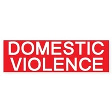 stop domestic violence Bumper Bumper Sticker