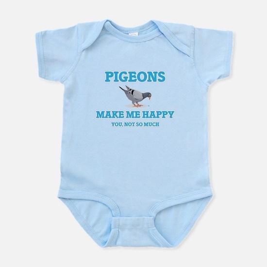 Pigeons Make Me Happy Body Suit
