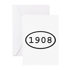 1908 Oval Greeting Cards (Pk of 10)