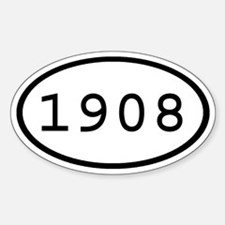 1908 Oval Oval Decal