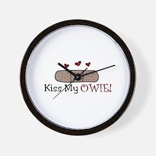 Kiss My Owie Wall Clock