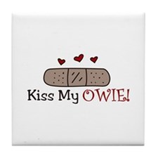 Kiss My Owie Tile Coaster