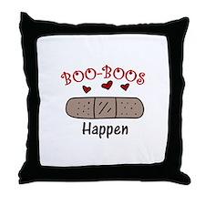 Boo Boos Happen Throw Pillow