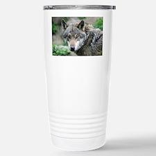 Cute Wolf photos Travel Mug