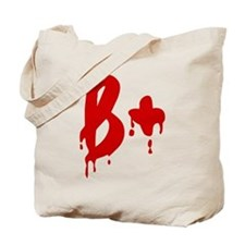 Blood Type B+ Positive Tote Bag
