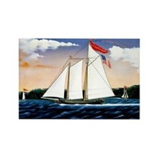 Casper Lawson, vintage sailboat Rectangle Magnet