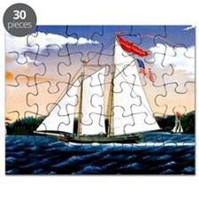 Casper Lawson, vintage sailboat Puzzle