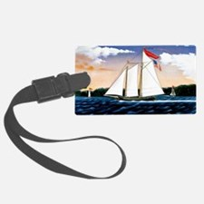 Casper Lawson, vintage sailboat Luggage Tag