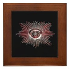 Masonic Design on Framed Tile