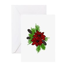Holiday Poinsettia Greeting Cards