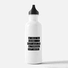 No Deja Vu Please Water Bottle