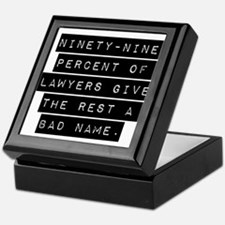 Ninety-Nine Percent Of Lawyers Keepsake Box