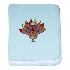 Turkey baby blanket