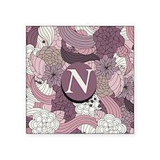 "Cute Monogram n Square Sticker 3"" x 3"""