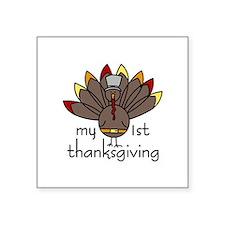 My 1st thanksgiving Sticker