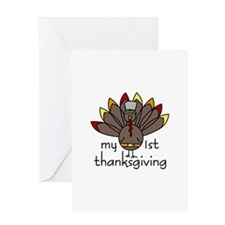 My 1st thanksgiving Greeting Cards