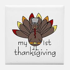 My 1st thanksgiving Tile Coaster