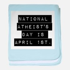 National Atheists Day baby blanket