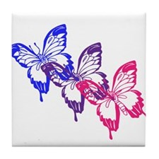 Bisexual Butterfly Tile Coaster