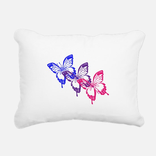 Bisexual Butterfly Rectangular Canvas Pillow