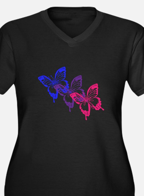 Bisexual Butterfly Plus Size T-Shirt