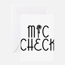 Mic Check Greeting Card